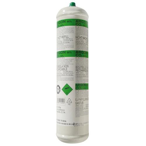 Botella de gas de mezcla de argón y co2 awelco ce-gasmixtoplus de 0.95 litros