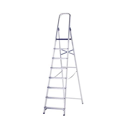 Escalera de uso doméstico de aluminio 8 peldaños