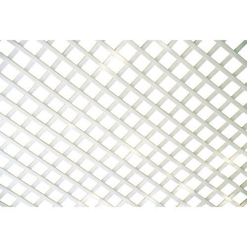 Celosía fija de pvc blanco 100 x 200 cm