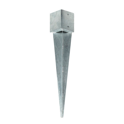 Soporte poste para tierra de acero galvanizado para poste de 12 x 12 cm