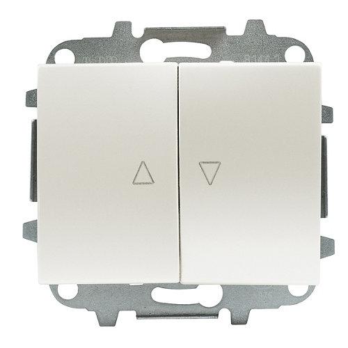 Interruptor de persiana niessen olas blanco
