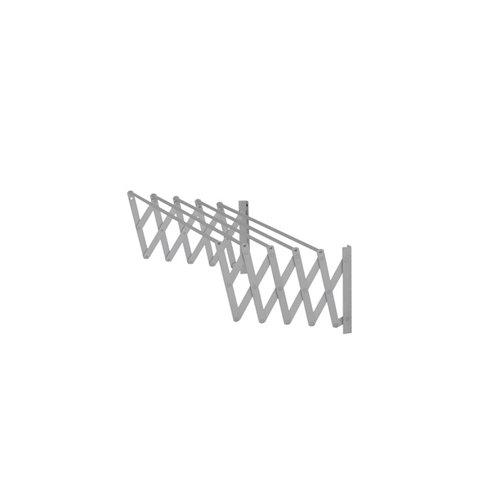 Tendedero barras extensible para pared de aluminio de 13x81x3 cm