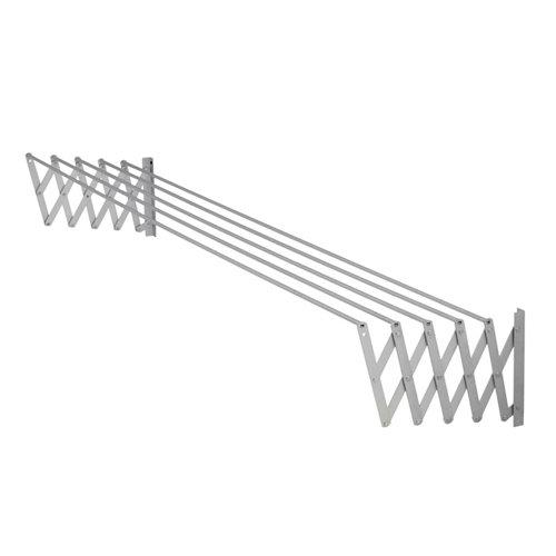 Tendedero barras extensible para pared de aluminio de 13x181x3 cm