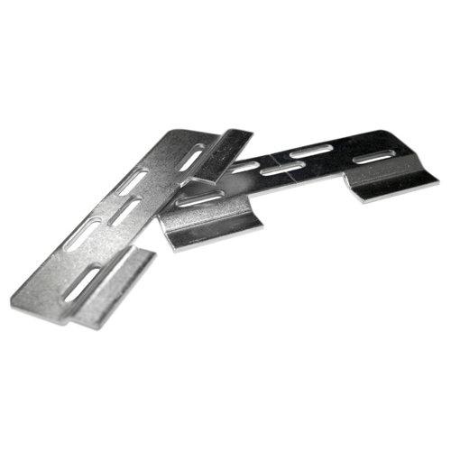 Colgador de mueble atornillar de acero de 11.5x4x0.7 cm