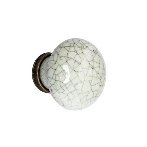 Pomo de mueble de porcelana brillante de 30x30x27 mm