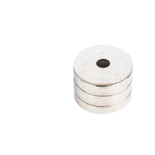 Soporte y remate para barra de armario lateral spaceo de aluminio plata