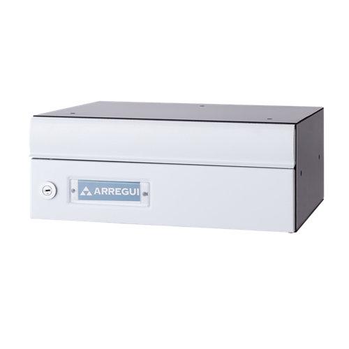 Buzón de aluminio en blanco de 13.5x25x27 cm