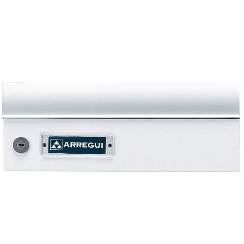 Buzón de aluminio en blanco de 13.5x25x36.5 cm