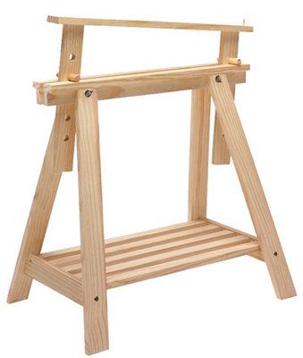 Caballete de pino madera natural regulable y altura de 70 cm
