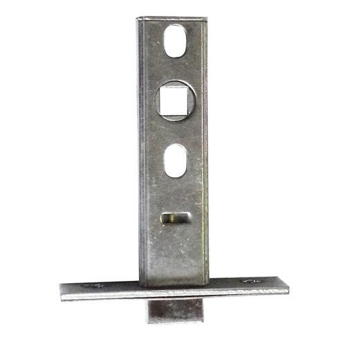 Picaporte tubular cuadrado acero inoxidable de 60 mm de entrada