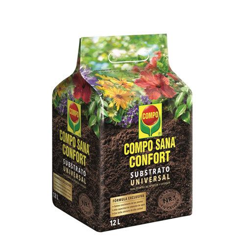 Sustrato universal compo sana para todo tipo de plantas en bolsa confort 12l