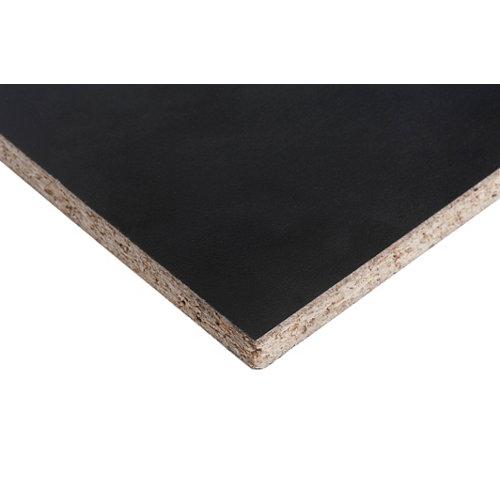 Trasera de melamina negro soft 122x244x1,6 cm (anchoxaltoxgrosor)