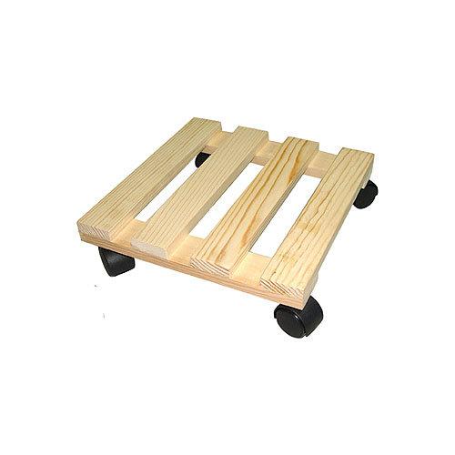 Soporte rodante de madera antideslizante y 50 kg de carga máxima
