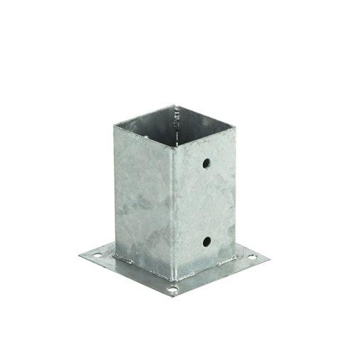 Soporte poste para suelo hormigón de metal para poste de 9 x 9 cm