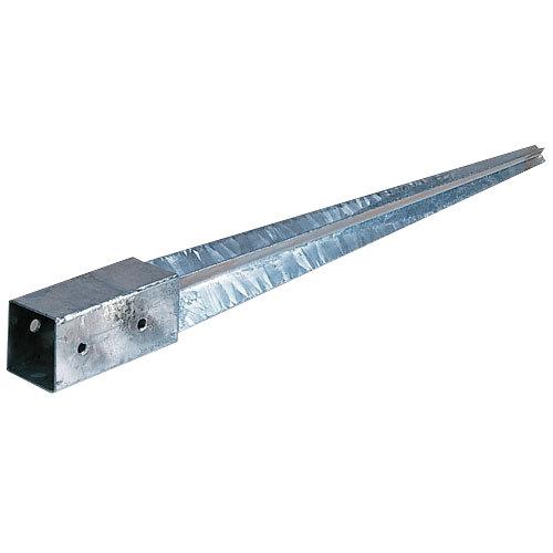 Soporte poste para tierra de metal para poste de 7 x 7 cm
