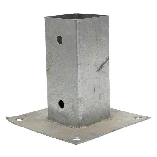 Soporte de metal para poste de 6x6 cm para atornillar al suelo