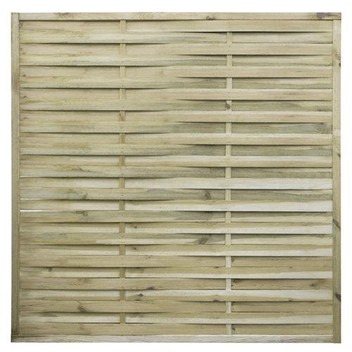 Panel de exterior recto de madera marrón 180x180cm