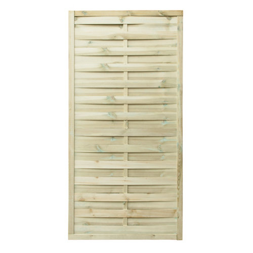 Panel de exterior recto de madera marrón 90x180cm