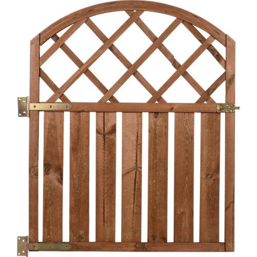 Puerta batiente de madera marrón 90x110 cm