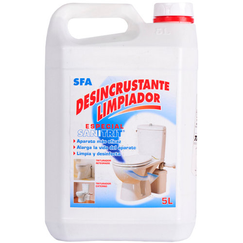 Desincrustante líquido para wc químico sfa con perfume pino