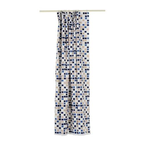 Cortina de baño mosaico azul poliéster 180x200 cm