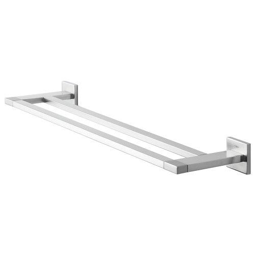 Toallero items gris / plata mate 14.4x5.2 cm