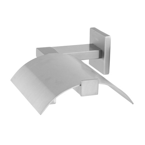 Portarollo wc items con tapa gris / plata mate 13.3x6.9x17.1 cm