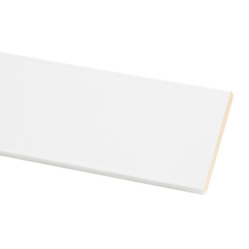 Tapeta de mdf lacada blanca 70x10 mm x 2,20 m (ancho x grueso x largo)