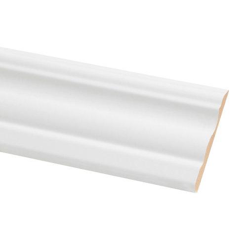 Jamba de mdf lacada blanca 70x10 mm x 2,20 m (ancho x grueso x largo)