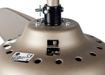 Ventilador de techo con luz INSPIRE Guillin 132 cm Gris AC
