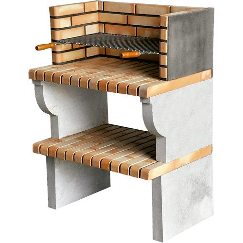 Barbacoa de ladrillo / hormigón / hormigón refractario fatima 115x81x58 cm de 27
