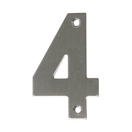 Número de señalización de puerta de acero inoxidable de 0.2x10x6 cm