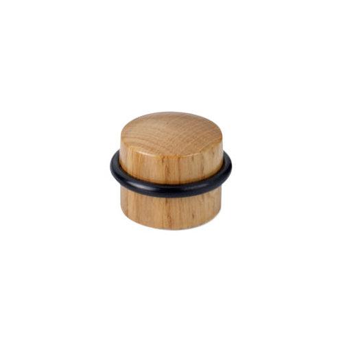 Tope de puerta para fijar en el suelo roble de 4x2,9x4 cm