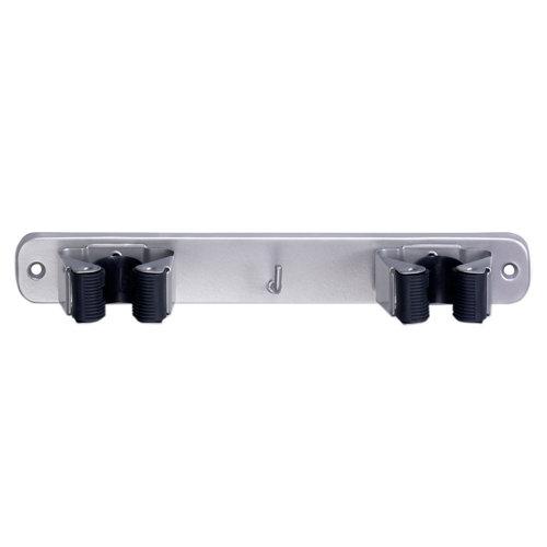 Cuelgaescobas atornillar de acero de 23x3.2x4.6 cm