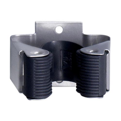 Cuelgaescobas adhesivo de acero de 5.2x3.4x4 cm
