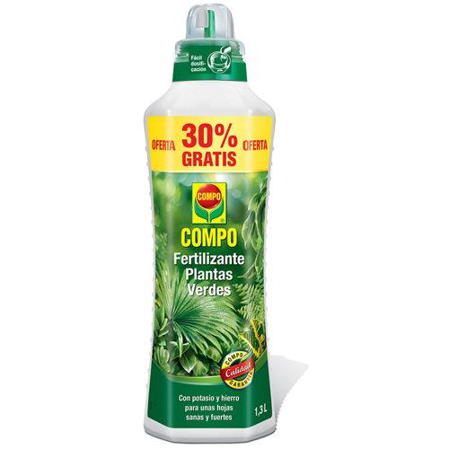 Fertilizante para plantas verdes compo para uso en interior y terraza 1,3l