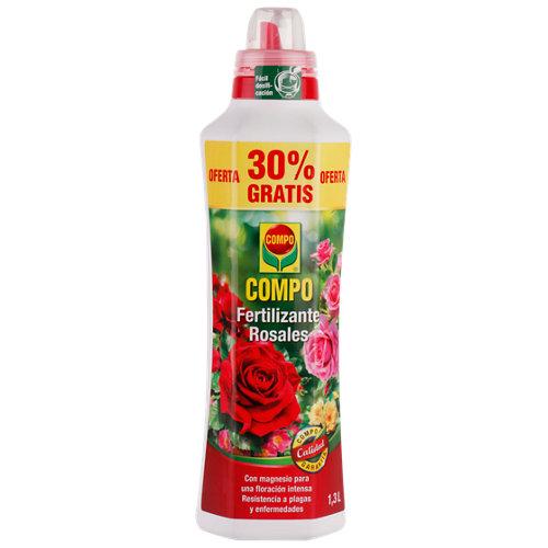 Fertilizante para rosales y plantas de flor compo uso en interior y terraza 1,3l