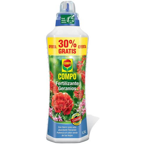 Fertilizante para geranios y plantas de flor compo uso interior y terraza 1,3l