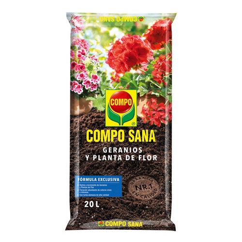 Sustrato para geranios y plantas de flor compo sana de interior y exterior 20l
