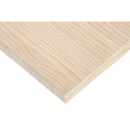 Tapa de mesa de madera maciza de abeto de 80x140x2,8cm (anchoxaltoxgrosor)