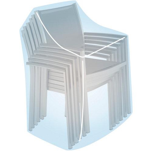 Funda de protección para sillas apiladas de poliéster 60x68x104 cm