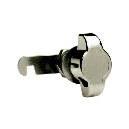 Cerradura de mueble en acero gris / plata