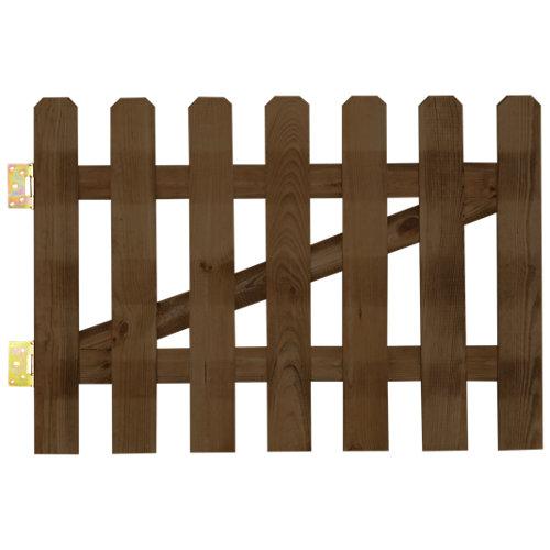 Puerta batiente mustang de madera marrón 100x100 cm