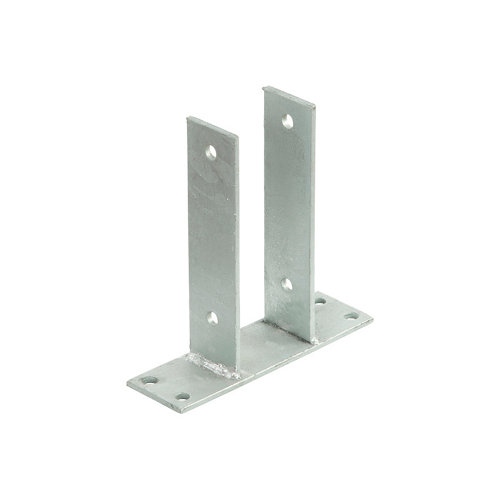 Soporte para suelo hormigón de acero galvanizado de 7x7 cm