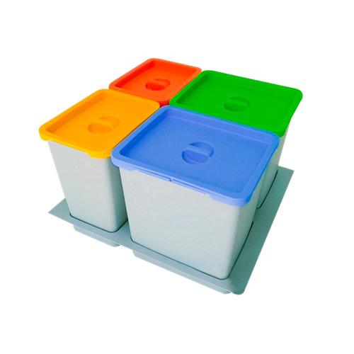 Cubo de basura interior de mueble manual para 40/50 litros