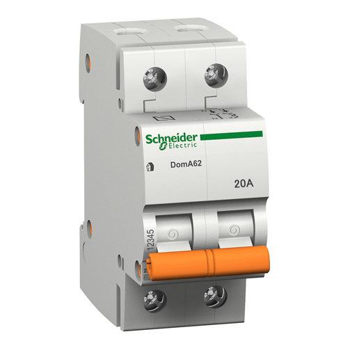 Interruptor magnetotérmico schneider electric bipolar 20a