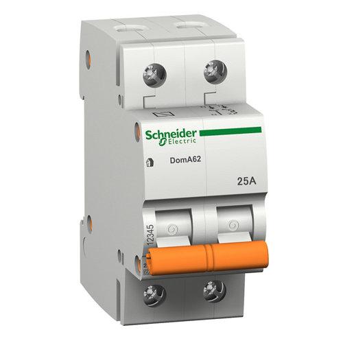Interruptor magnetotérmico schneider electric bipolar 25a