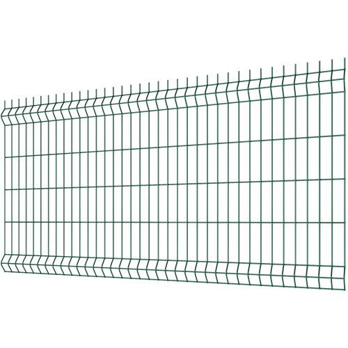 Panel soldado de acero galvanizado plastificado verde 0.6x2 m