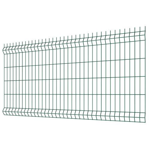 Panel soldado de acero galvanizado plastificado verde 1x2 m