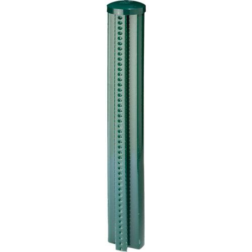 Poste de acero y pvc verde de 48mm y 70 cm